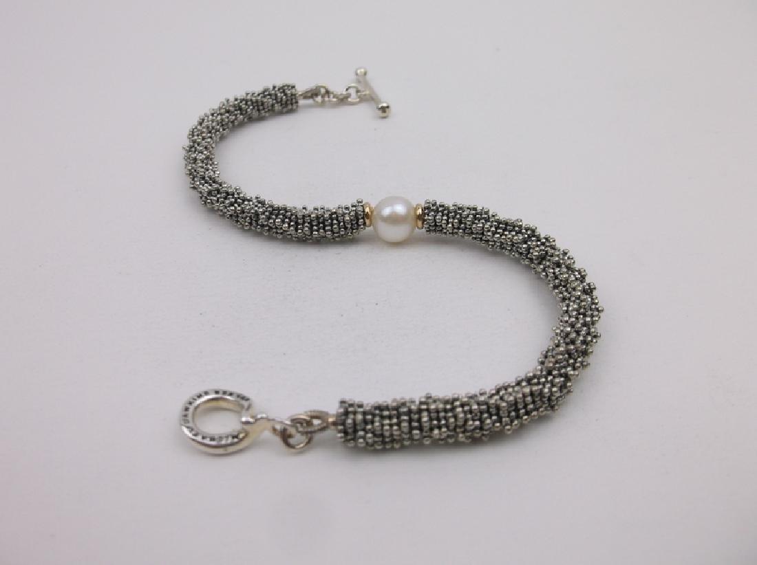 Michael Dawkins 14kt Gold Sterling Pearl Bracelet - 3