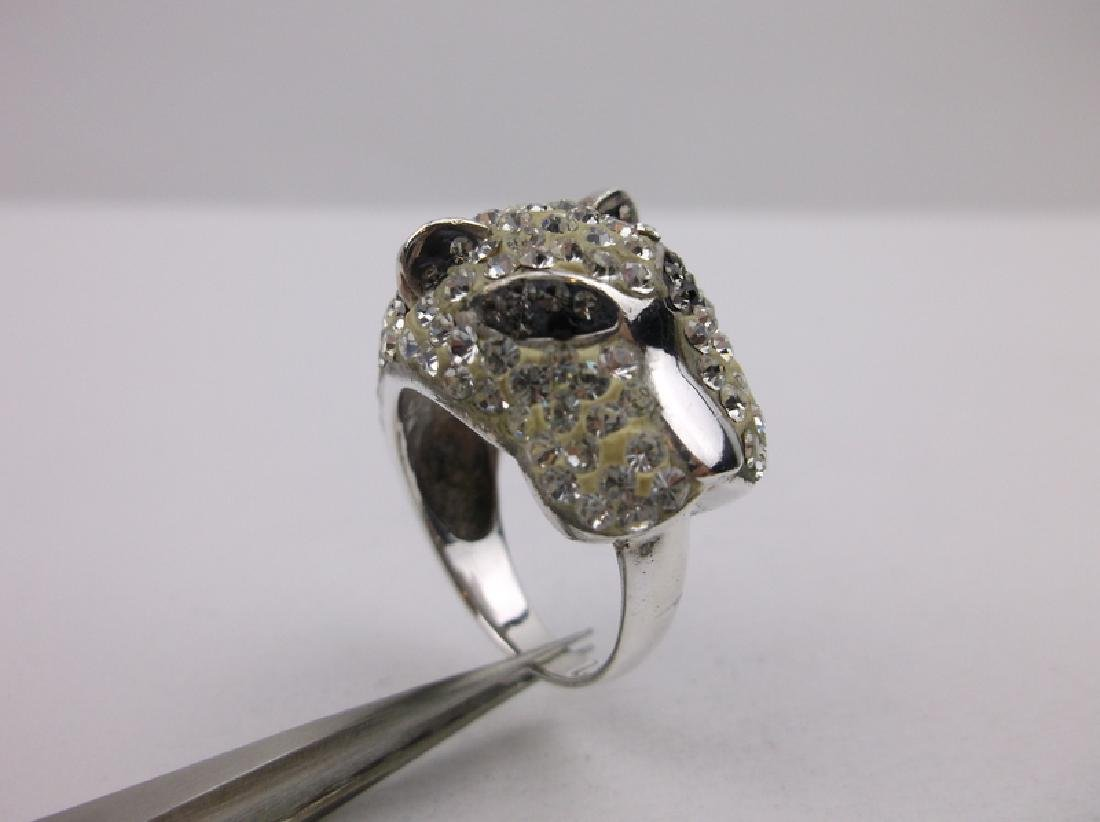 Stunning Sterling Silver Panther Ring 8.5 - 2