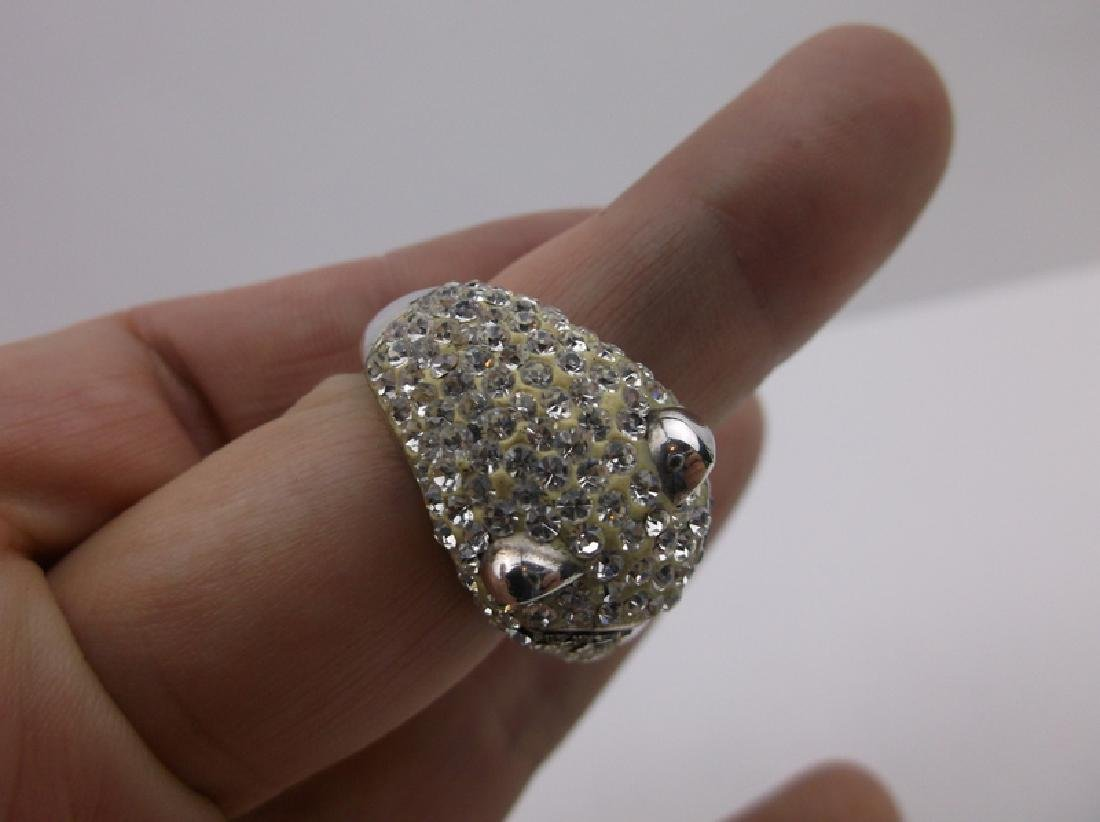 Stunning Sterling Silver Panther Ring 8.5 - 3