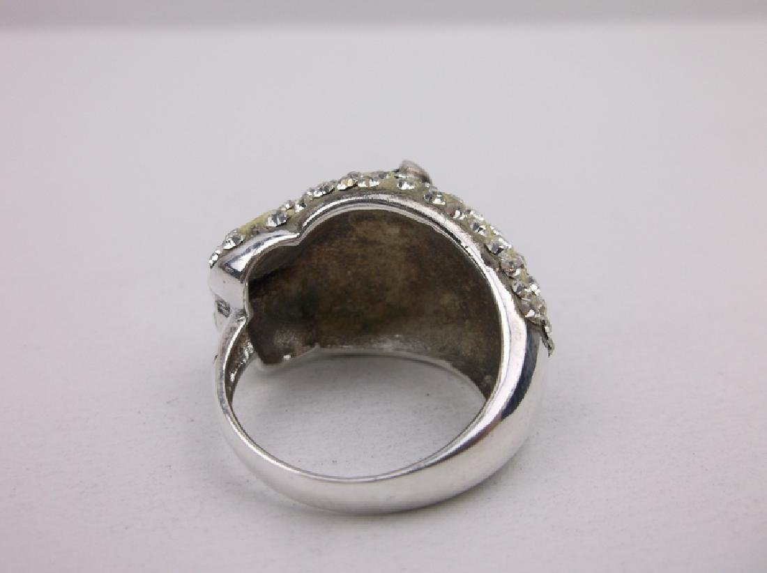Stunning Sterling Silver Panther Ring 8.5 - 4