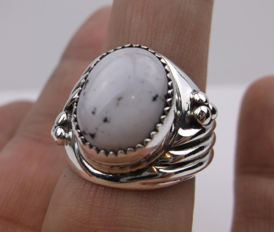 Huge Navajo Sterling Howlite Ring 9.25 Stunning