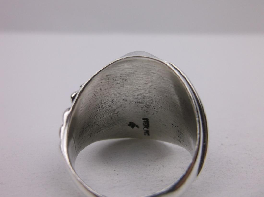 Huge Navajo Sterling Howlite Ring 9.25 Stunning - 3