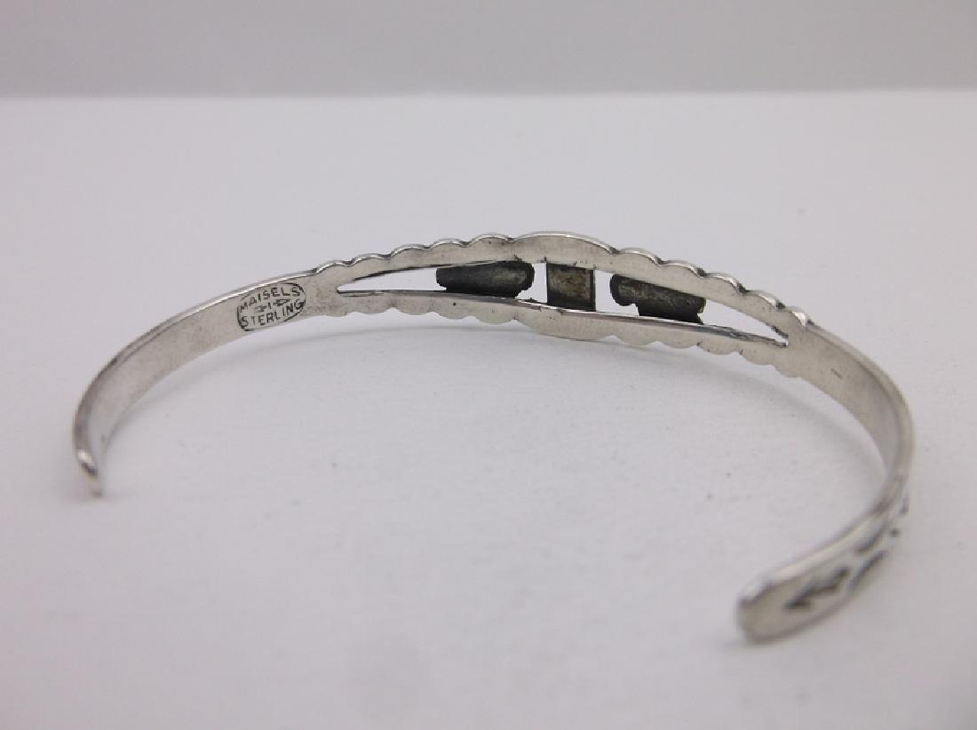 1940s Maisels Sterling Turquoise Cuff Bracelet T Bird - 4
