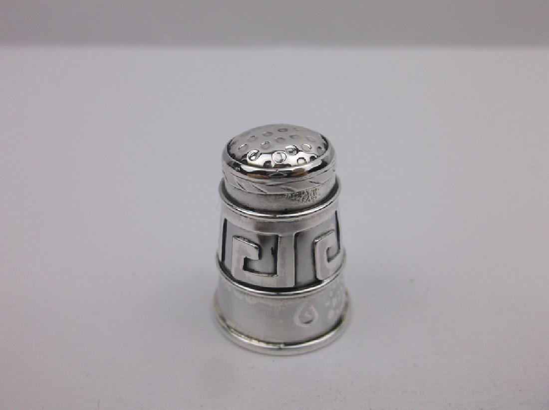 EDH Antique Taxco Sterling Sewing Thimble - 2