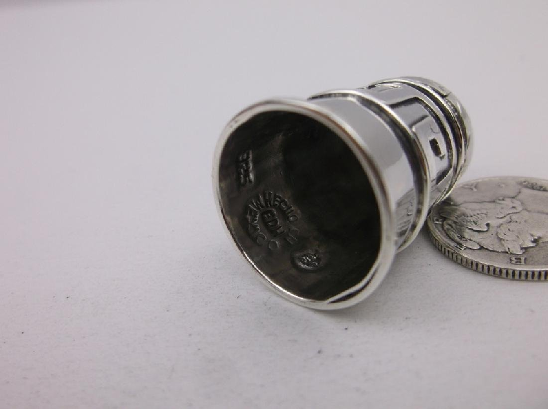 EDH Antique Taxco Sterling Sewing Thimble - 3