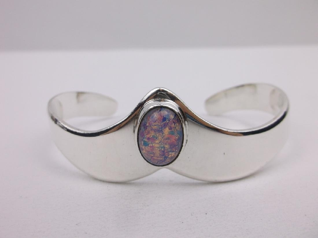 Taxco Sterling Dragons Breath Cuff Bracelet Stunning - 2