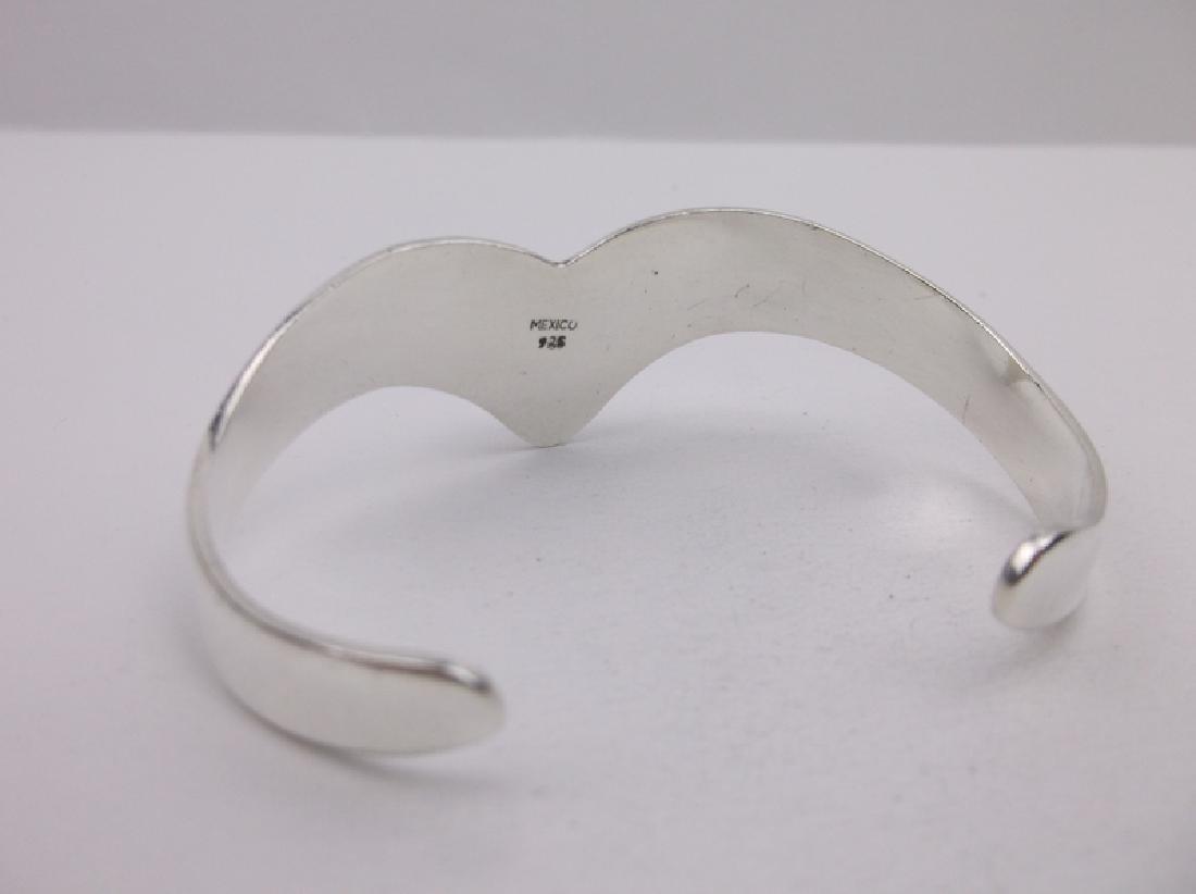 Taxco Sterling Dragons Breath Cuff Bracelet Stunning - 3