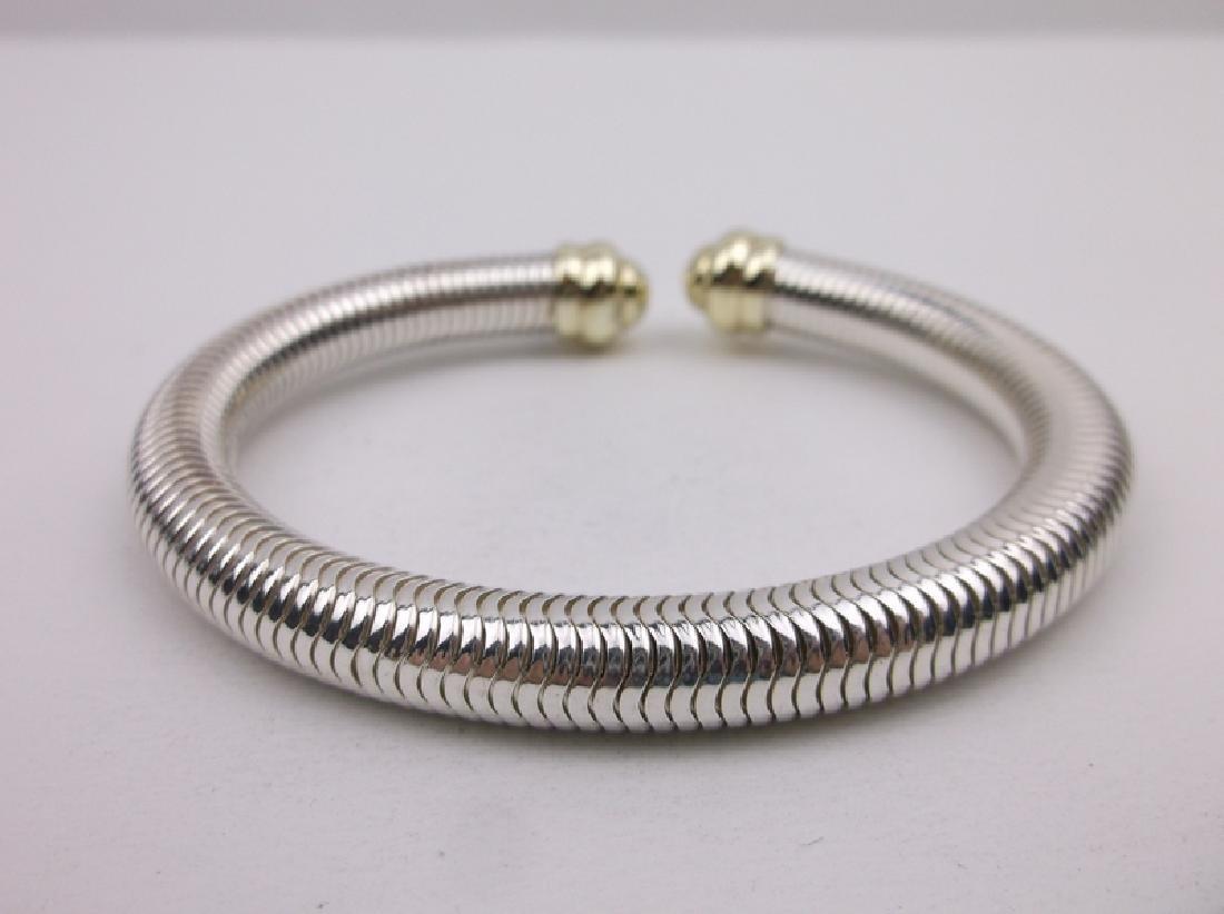 14kt Gold Sterling Millipede Flex Bracelet Stunning
