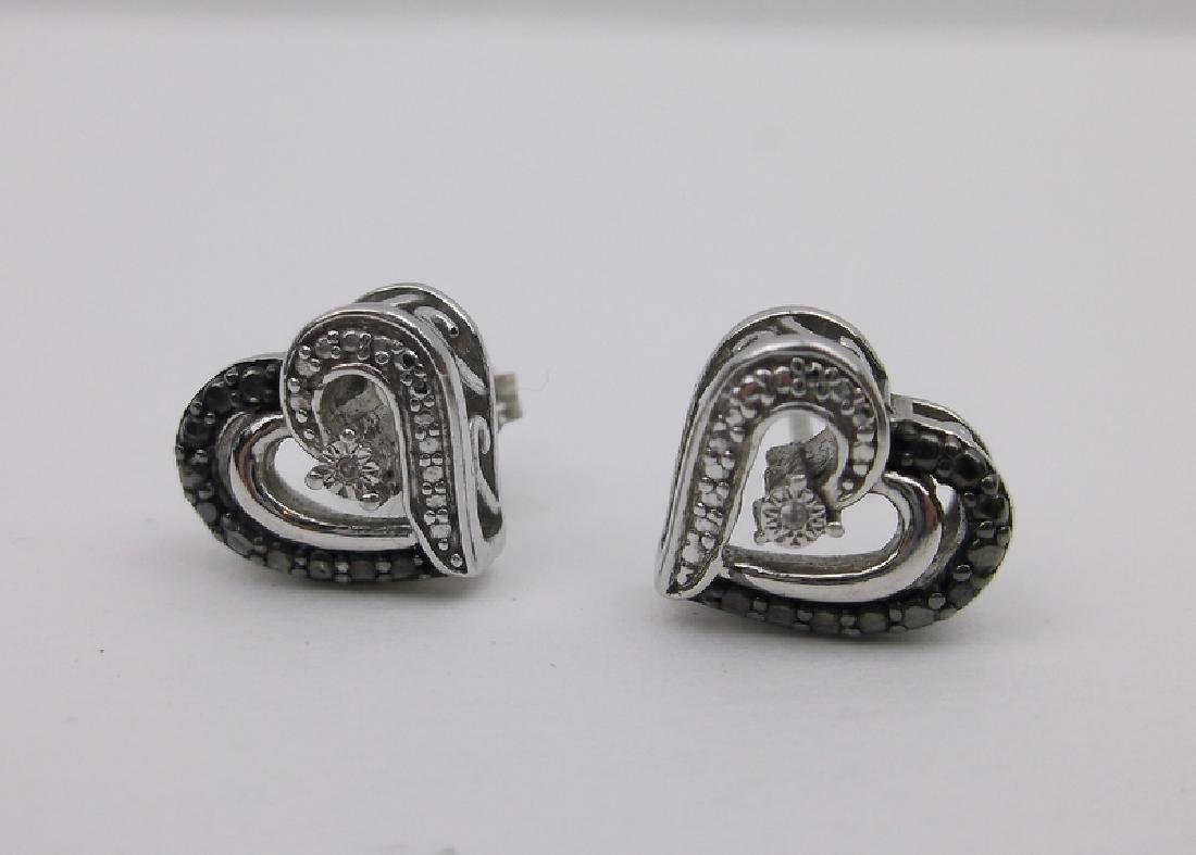 Sterling Genuine Diamond Stud Earrings Stunning