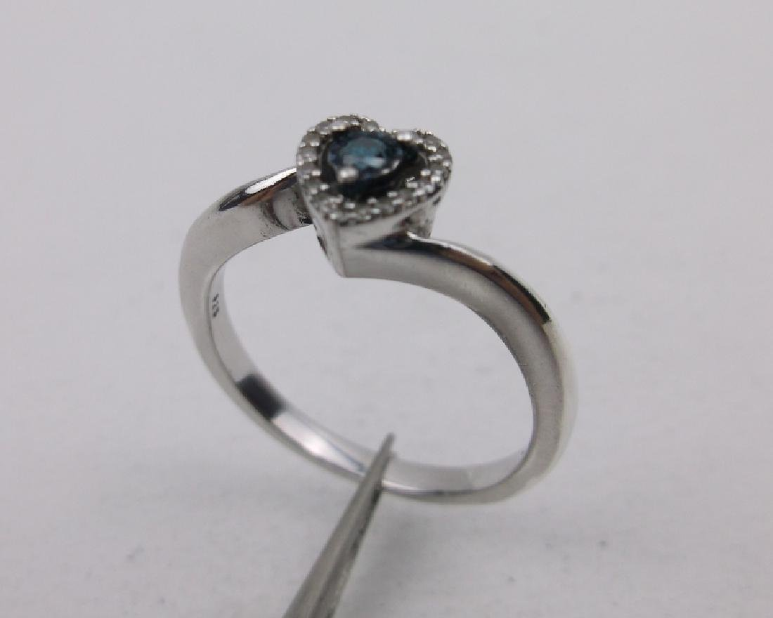 Sterling Diamond Engagement Ring 6.75 Stunning