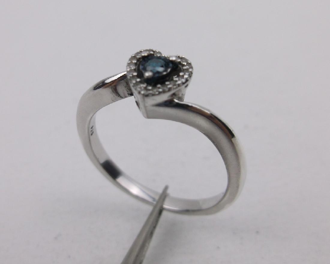 Sterling Diamond Engagement Ring 6.75 Stunning