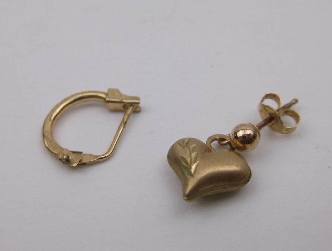 14kt 10kt Gold Single Earrings
