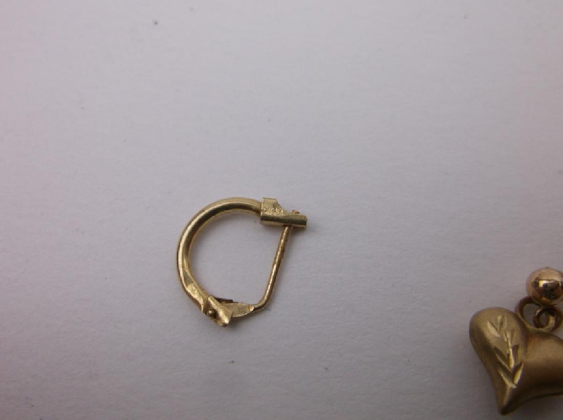 14kt 10kt Gold Single Earrings - 2