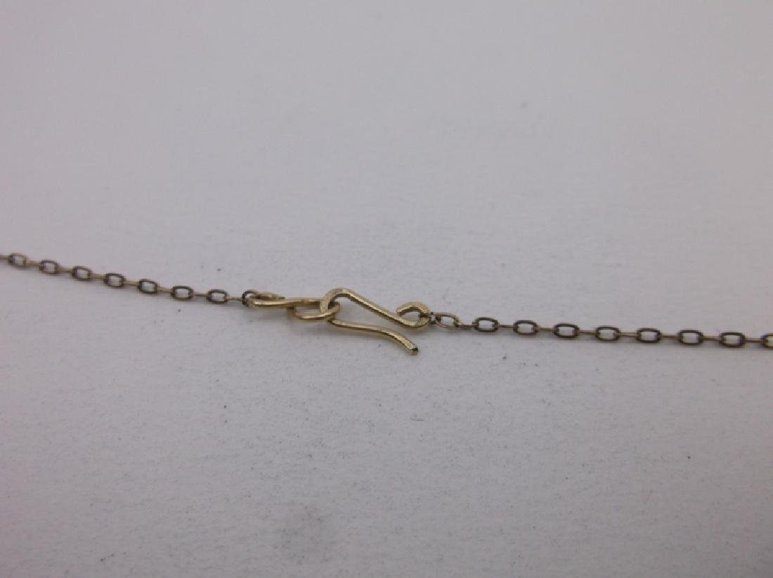 """Gorgeous 10kt Gold Pearl Necklace 17"""" - 3"""