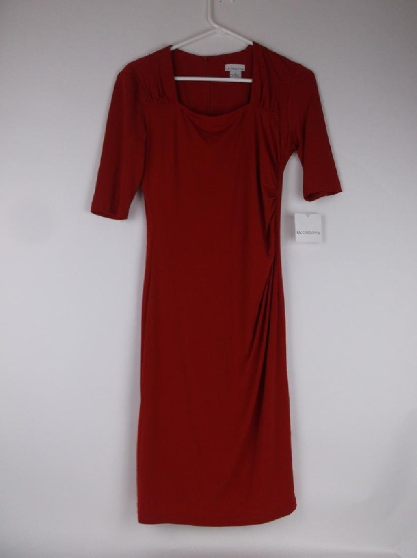 New Liz Claiborne Red Dress Size 6 With Tags