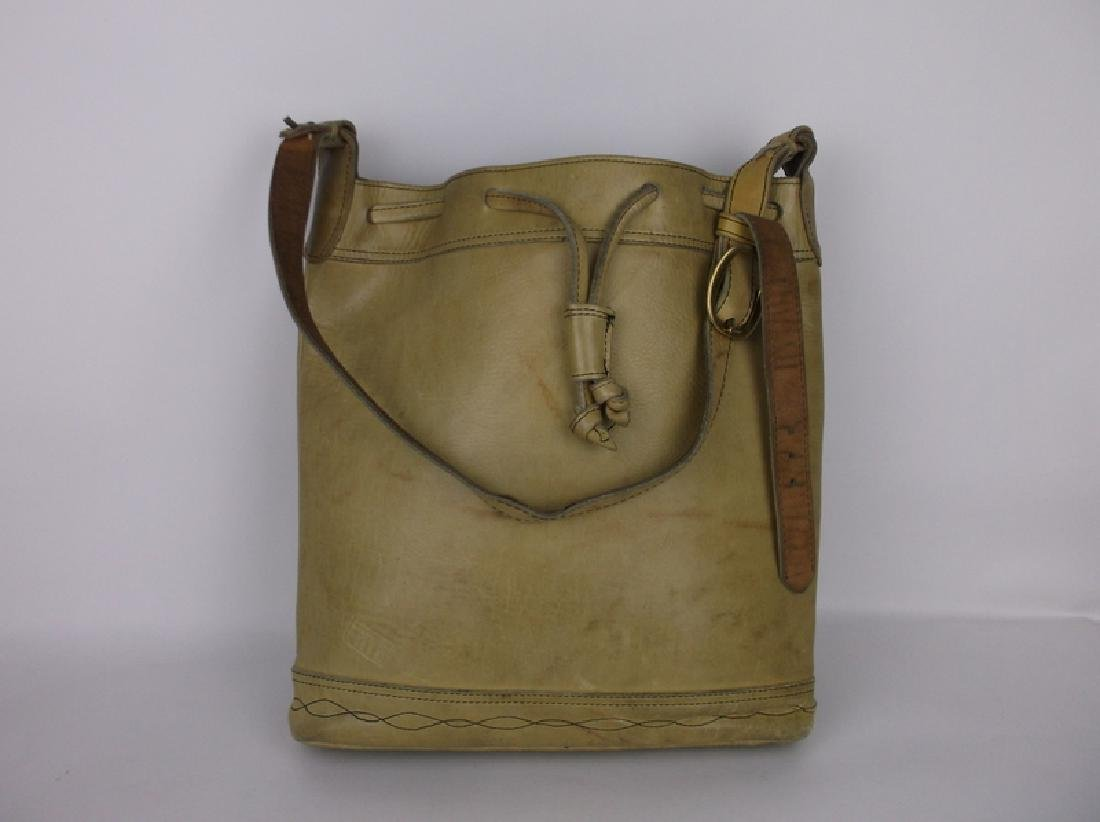 Vintage Frye Large Leather Handbag Deep