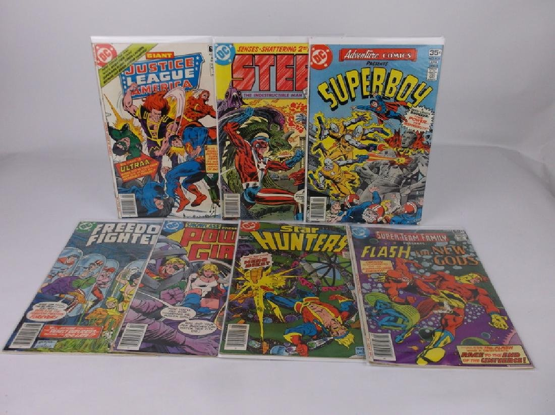 7 Nice 1970s DC Comic Books Superboy Etc