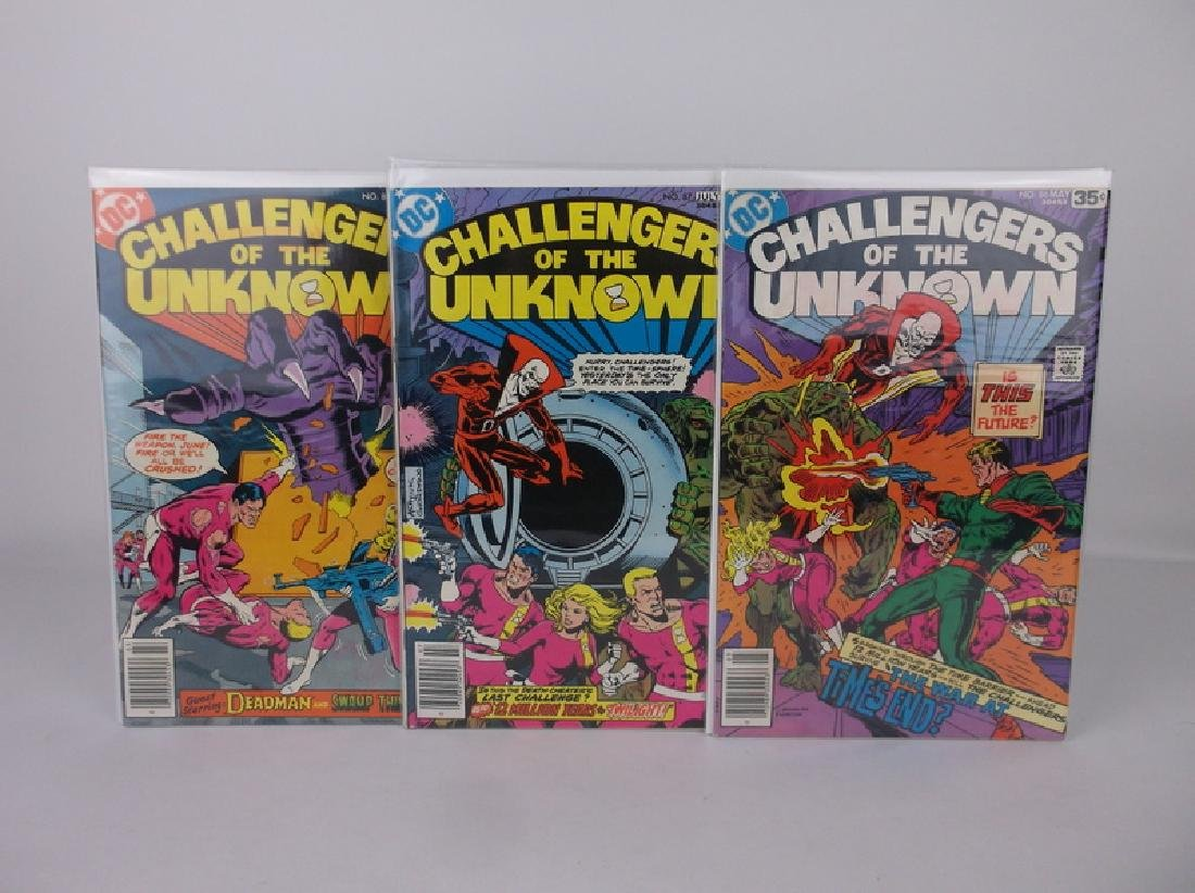 3 Nice 1970s DC Challengers Unknown Comic Books