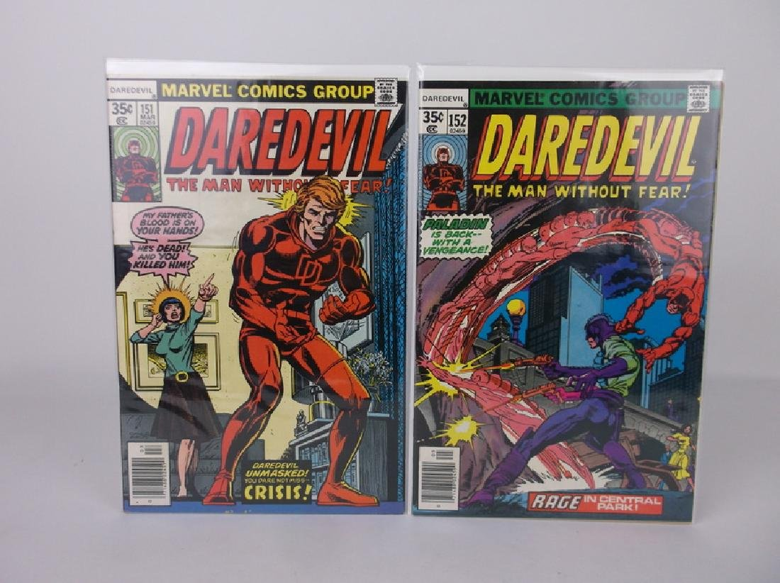 2 Nice 1977-78 Marvel Daredevil Comic Books
