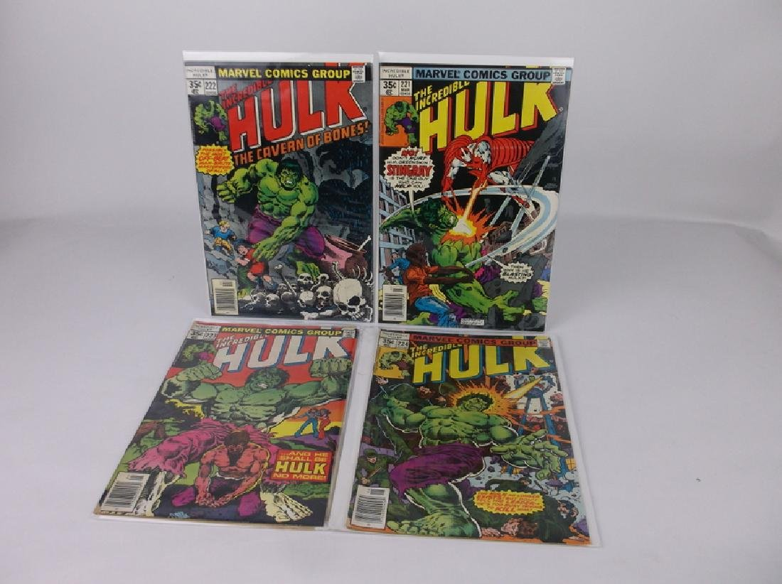 4 Nice 1977-78 Incredible Hulk Comic Books Marvel