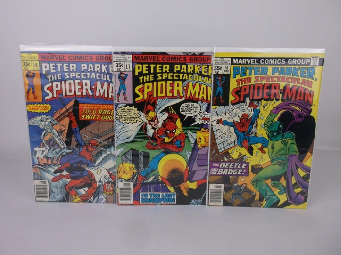 3 Nice 1977-78 Spiderman Comic Books Marvel