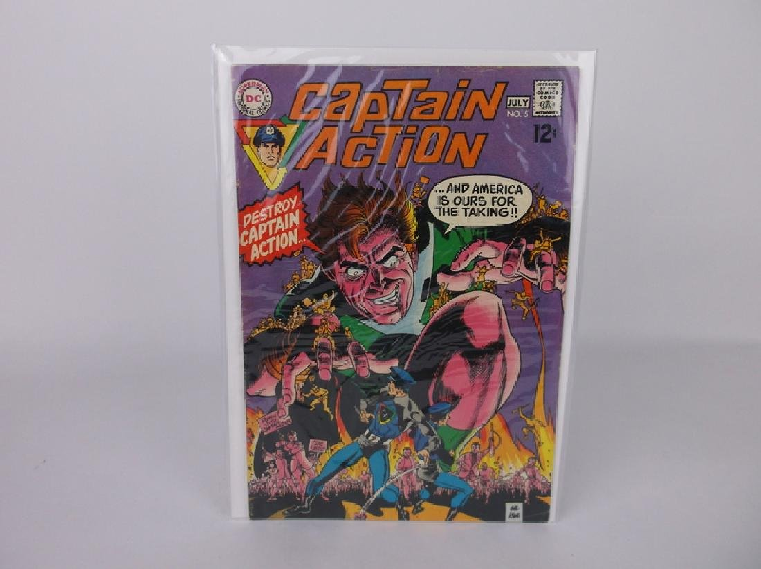 Nice 1969 DC Captain Action Comic Book #5