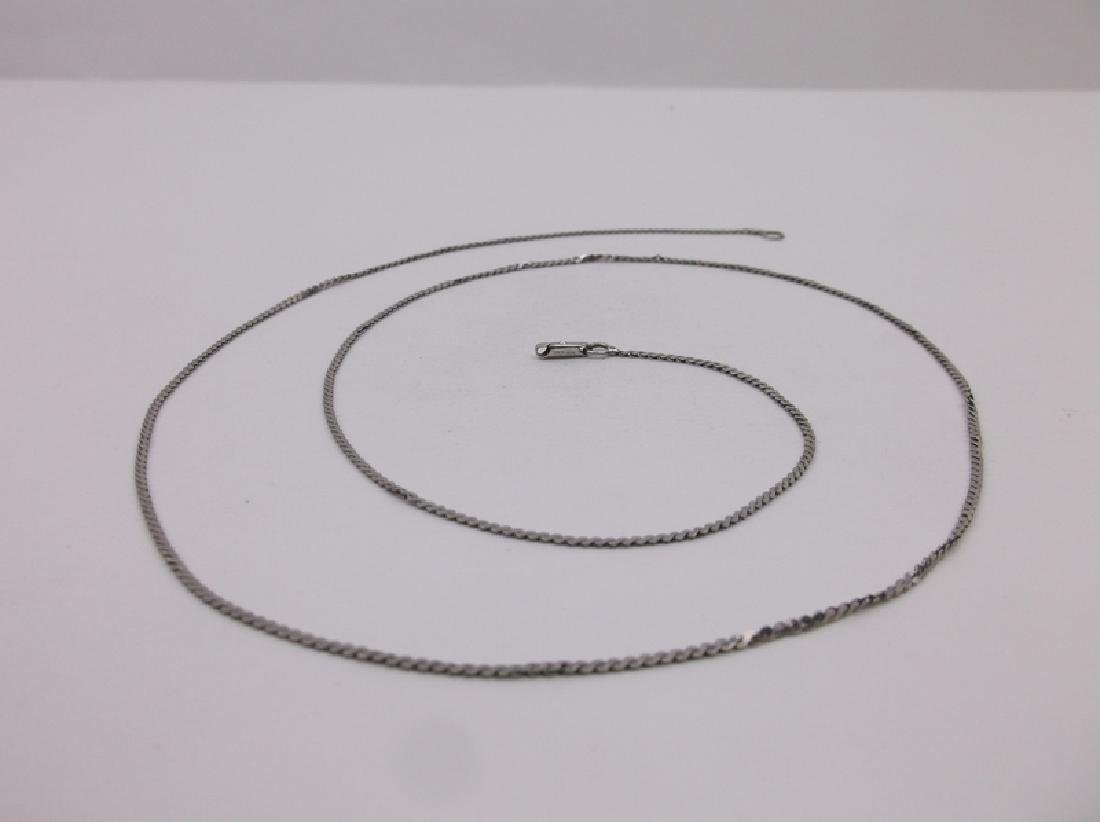"""Gorgeous Antique Sterling Silver Chain Necklace 24"""""""