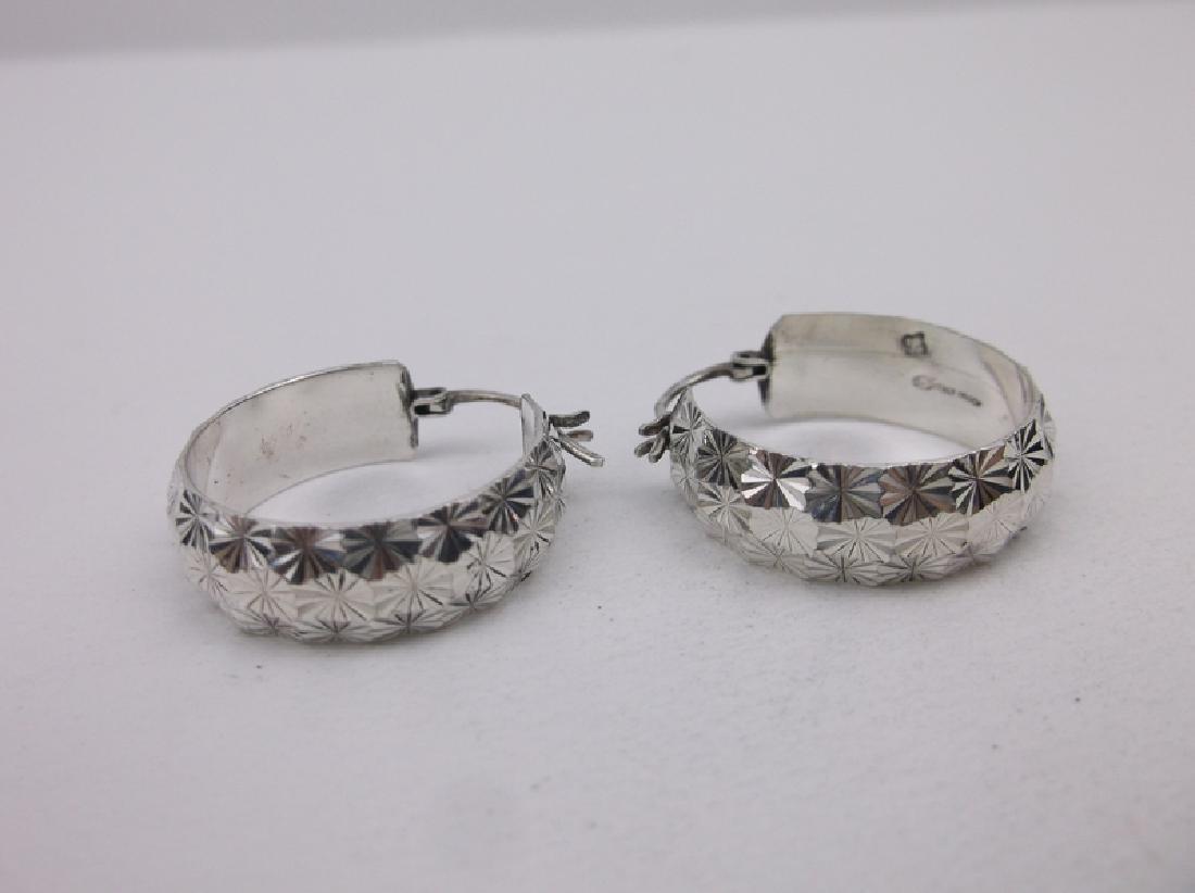 Stunning Heavy Sterling Silver Hoop Earrings
