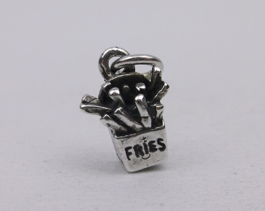 Gorgeous Sterling Silver French Fries Charm