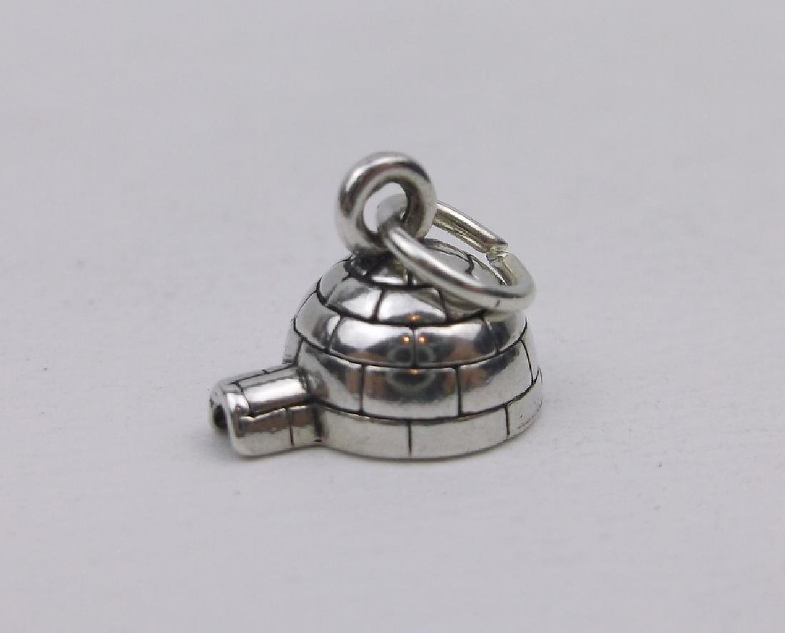 Stunning Sterling Silver Igloo Charm