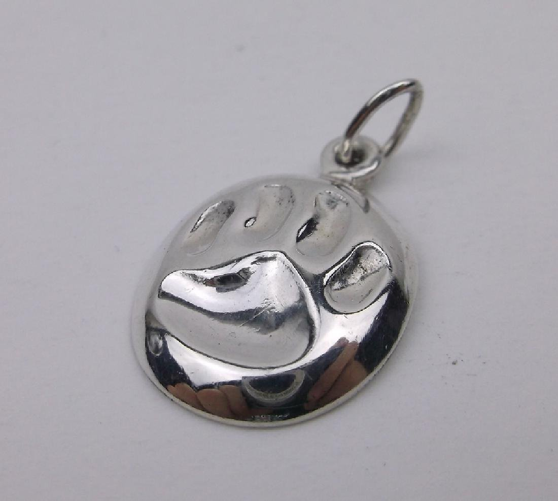 Stunning Sterling Silver Paw Pendant Charm
