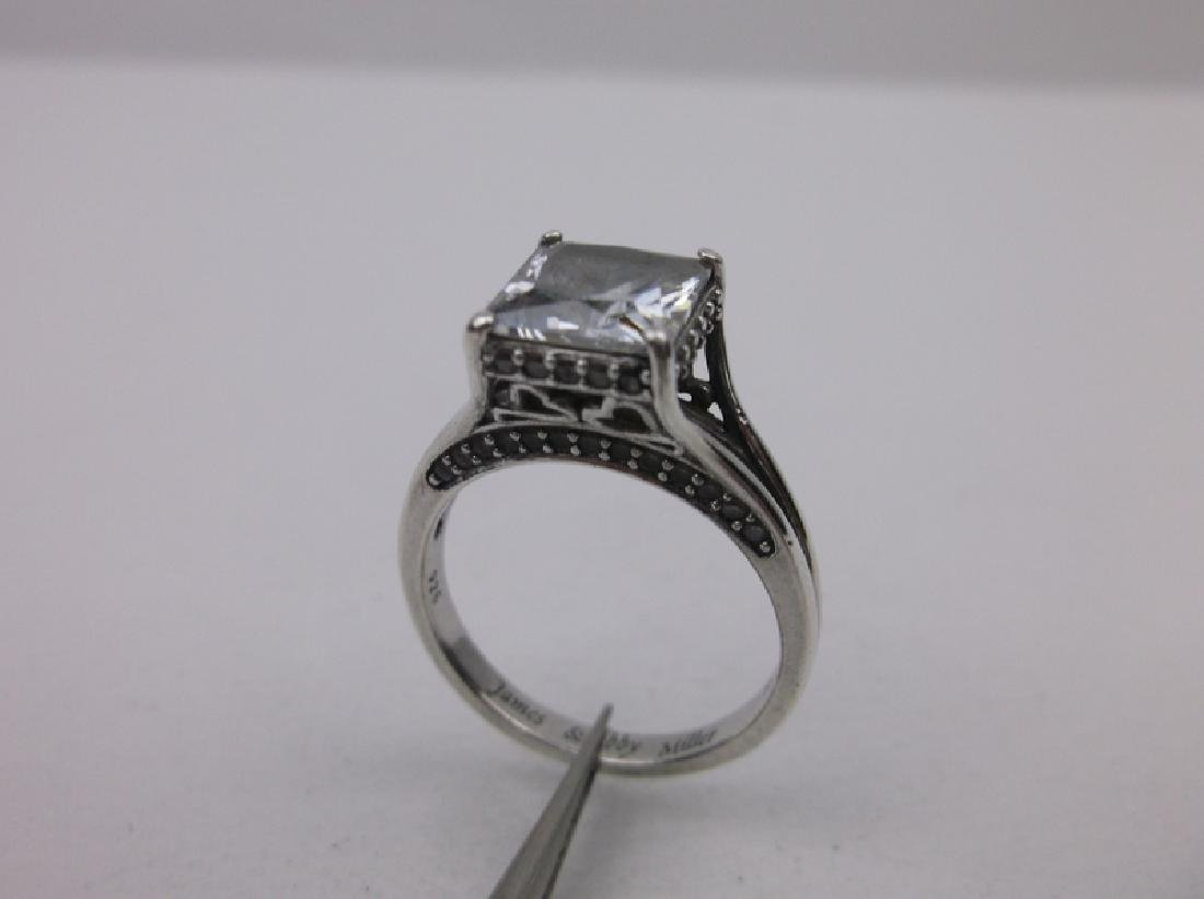 Stunning Sterling Silver Engagement Ring 8