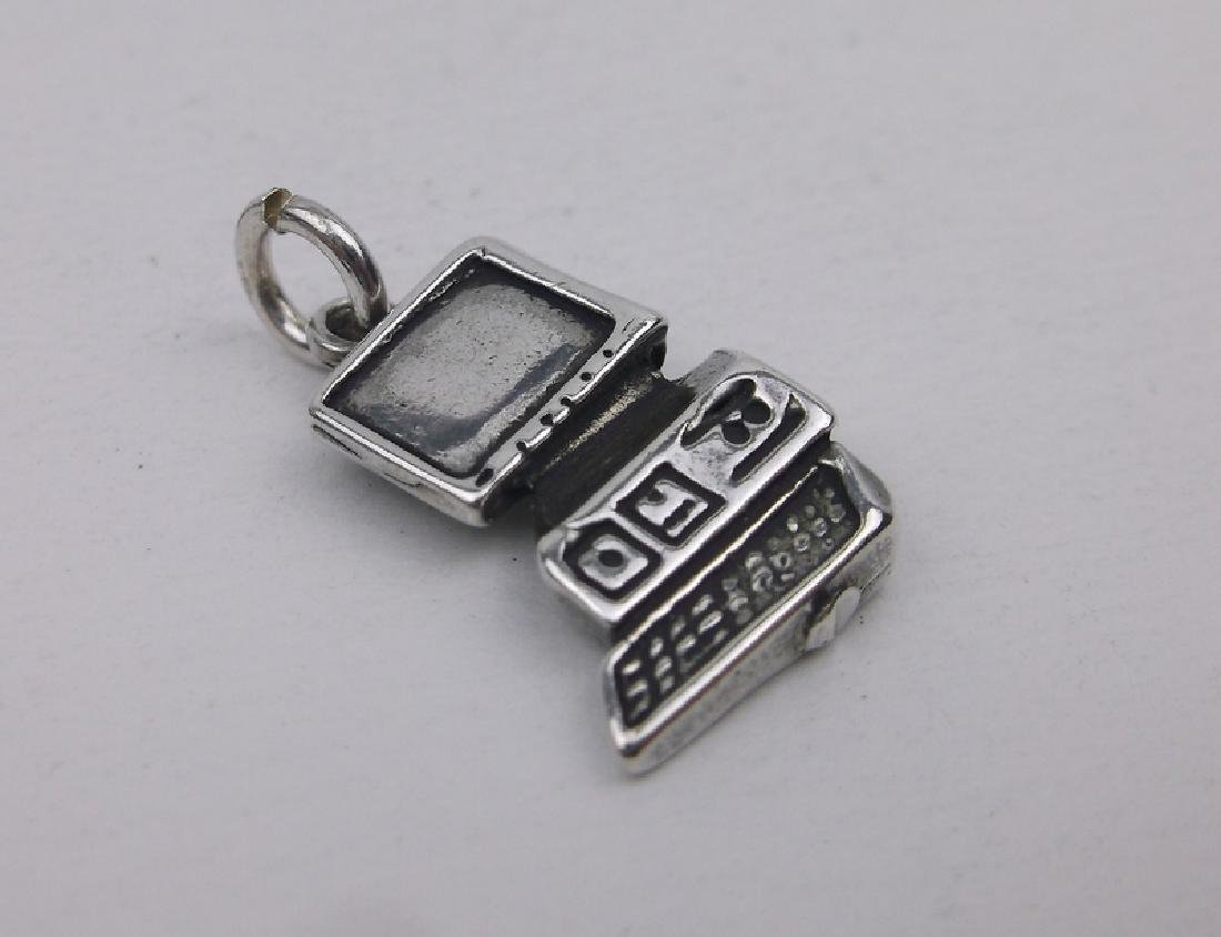 Gorgeous Sterling Silver Computer PC Charm