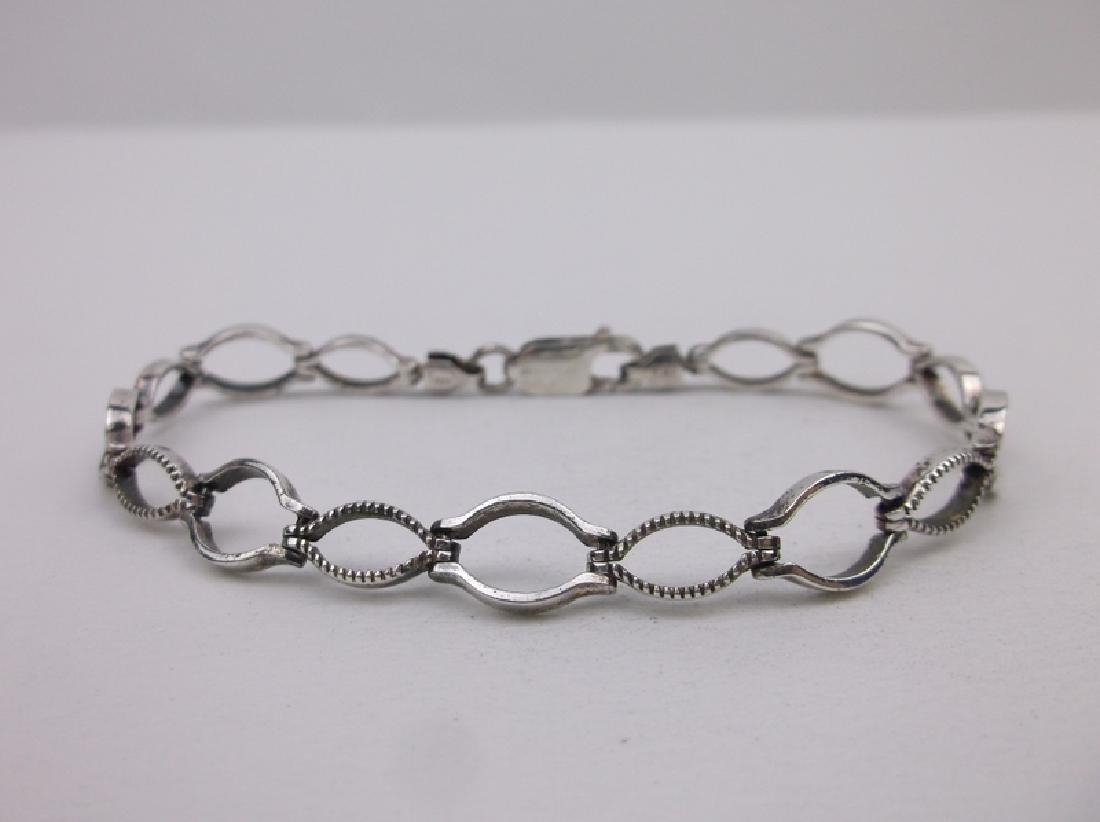 """Gorgeous Sterling Silver Chain Bracelet 7"""" Thick"""
