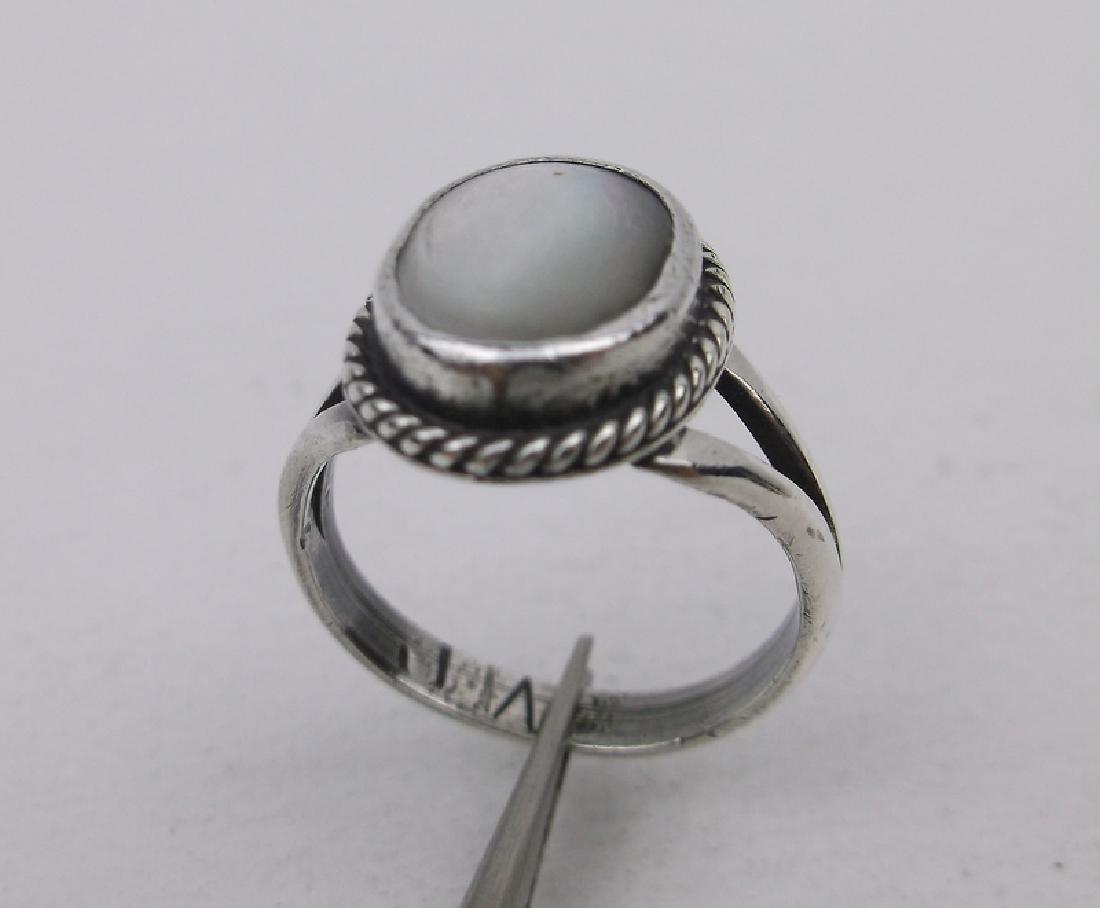 Navajo Sterling MOP Ring 3.5 JW Stunning