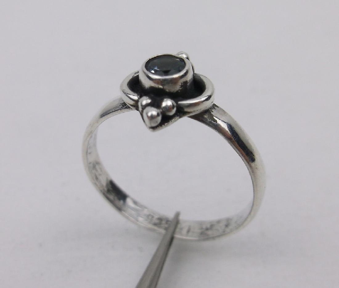 Stunning Sterling Silver Blue Topaz Ring 7