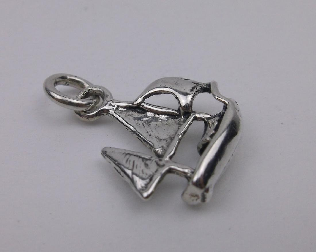 Gorgeous Sterling Silver Sail Boat Charm Pendant
