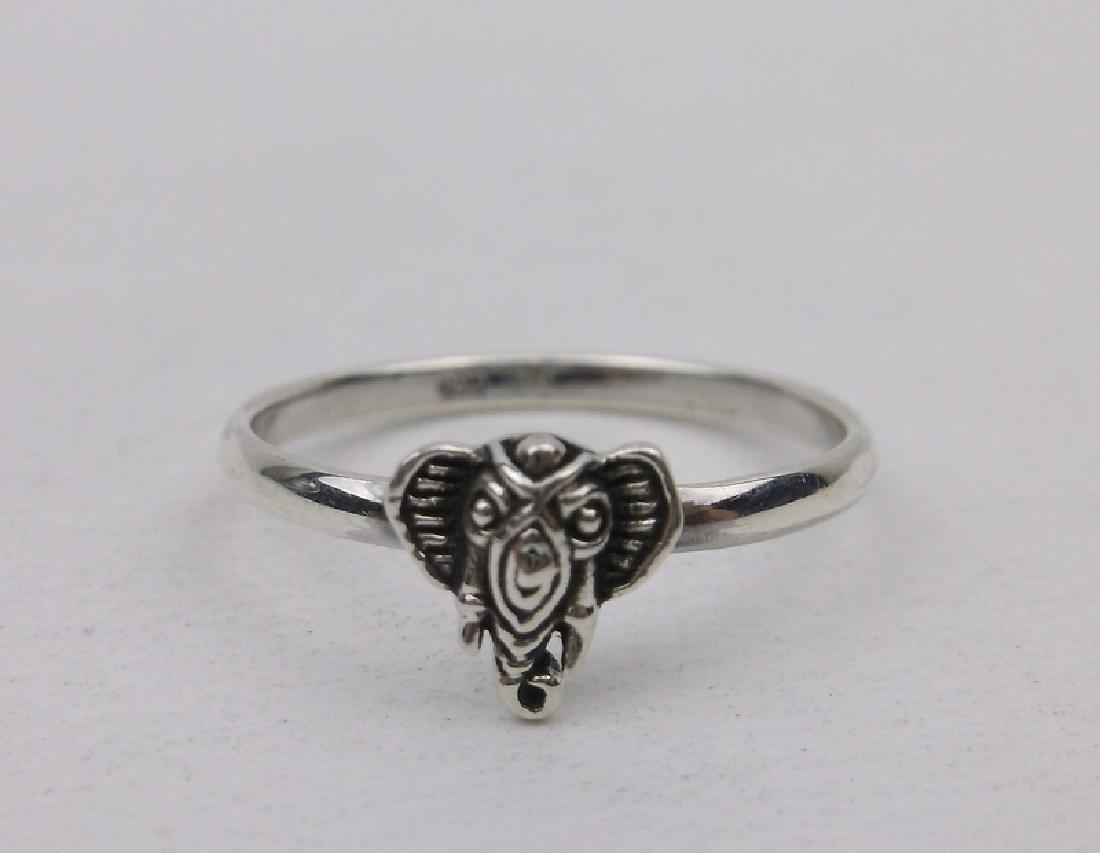 Stunning Sterling Silver Bali Elephant Ring 7