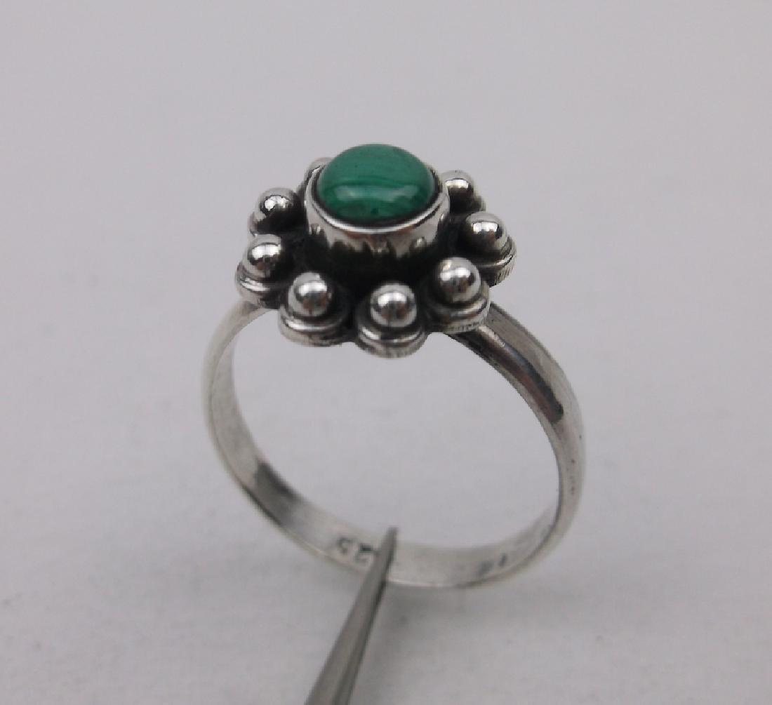 Stunning Sterling Silver Malachite Ring 6.5