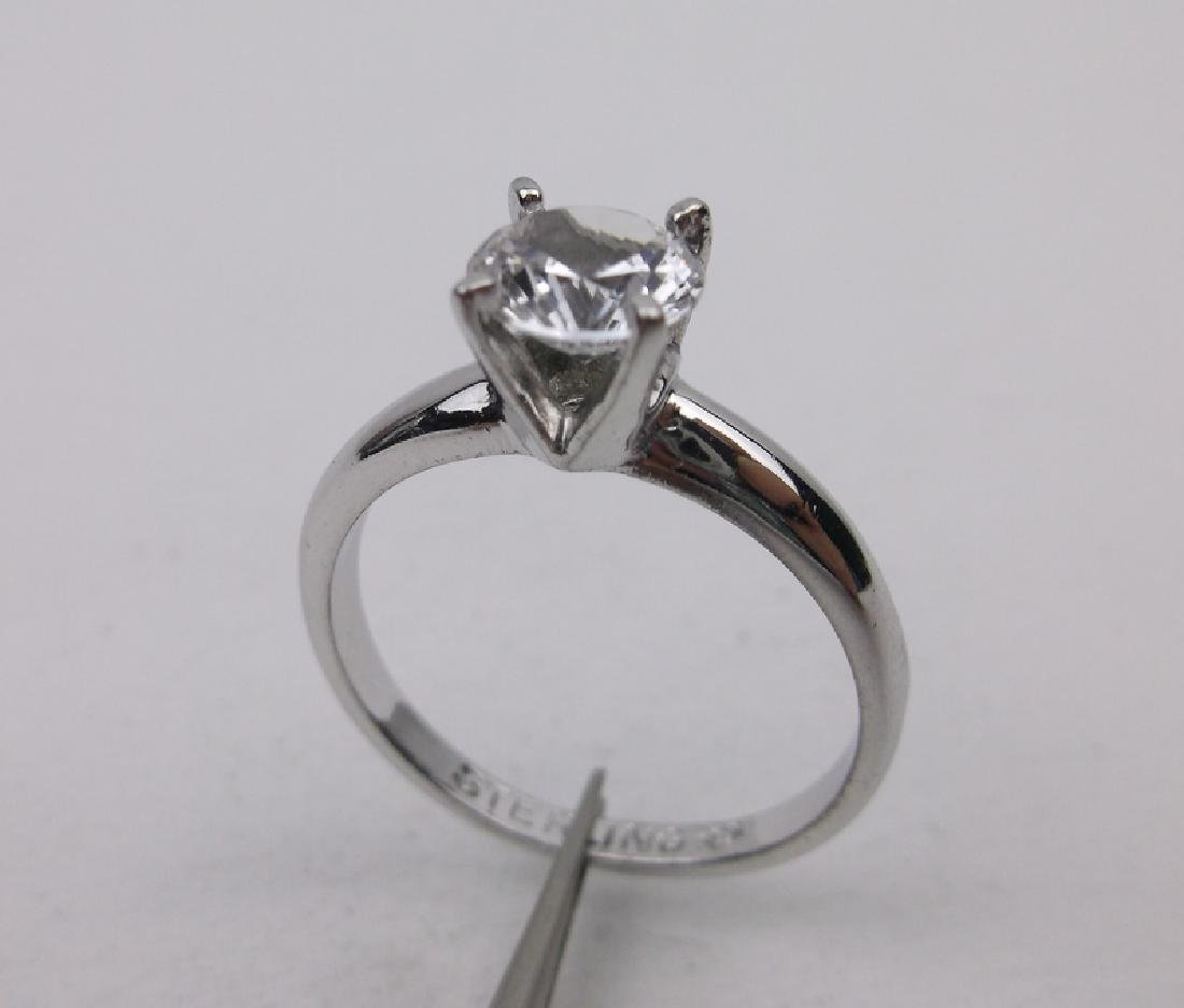 Stunning Antique Sterling Engagement Ring 8