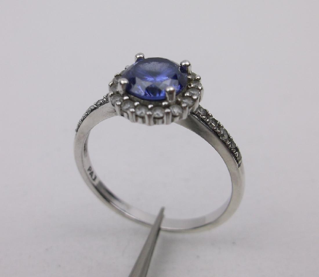 Stunning Sterling Silver Topaz Ring 9