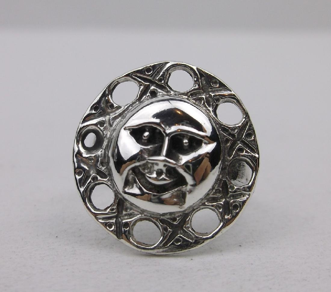 Gorgeous Sterling Silver Sun Face Ring 6