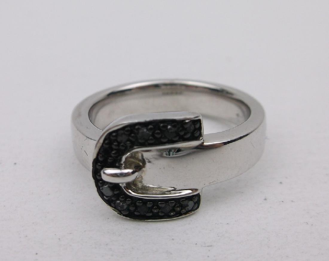 Stunning Heavy Sterling Silver Belt Ring 7