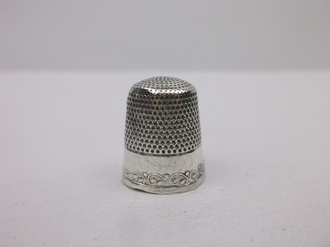 Art Nouveau Sterling Silver Sewing Thimble