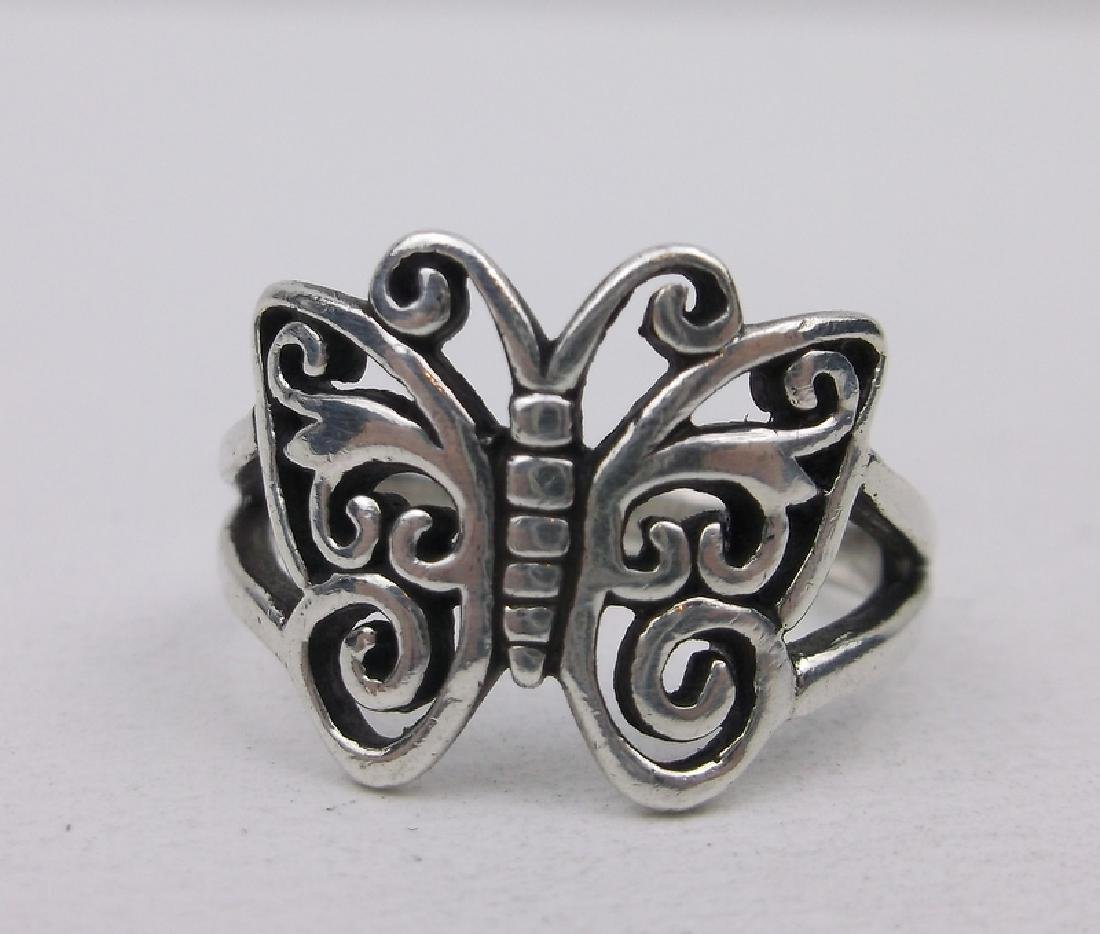 Gorgeous Sterling Silver Butterfly Ring 8