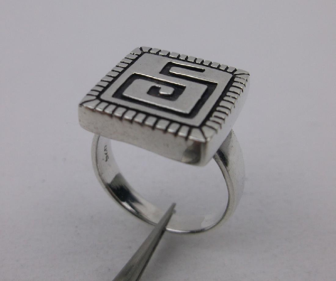 Stunning Native Sterling Silver Maze Ring 6