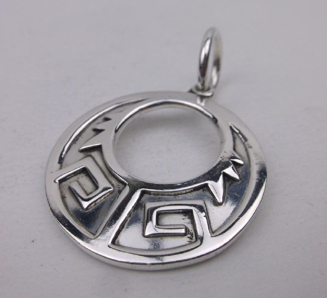 Stunning Sterling Silver Southwestern Pendant Thick