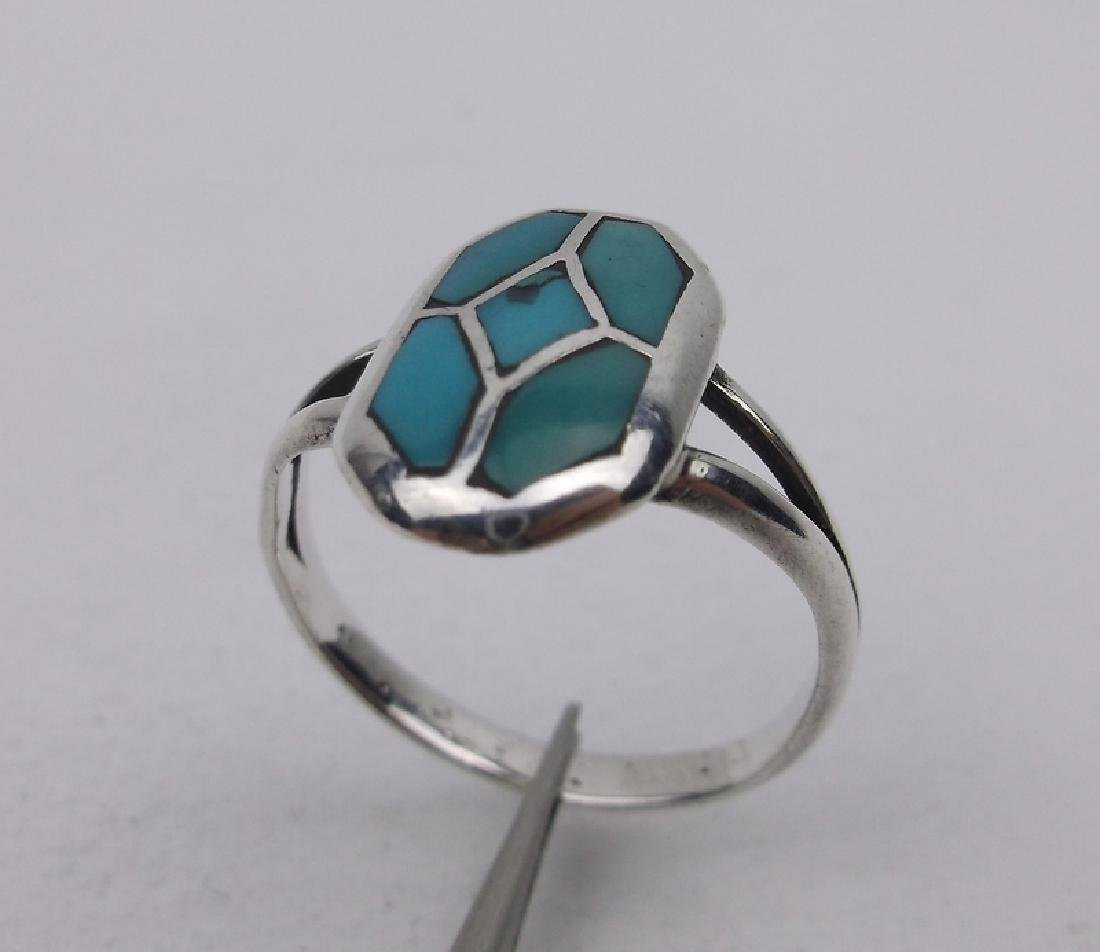 Navajo Sterling Silver Turquoise Ring 6 Stunning