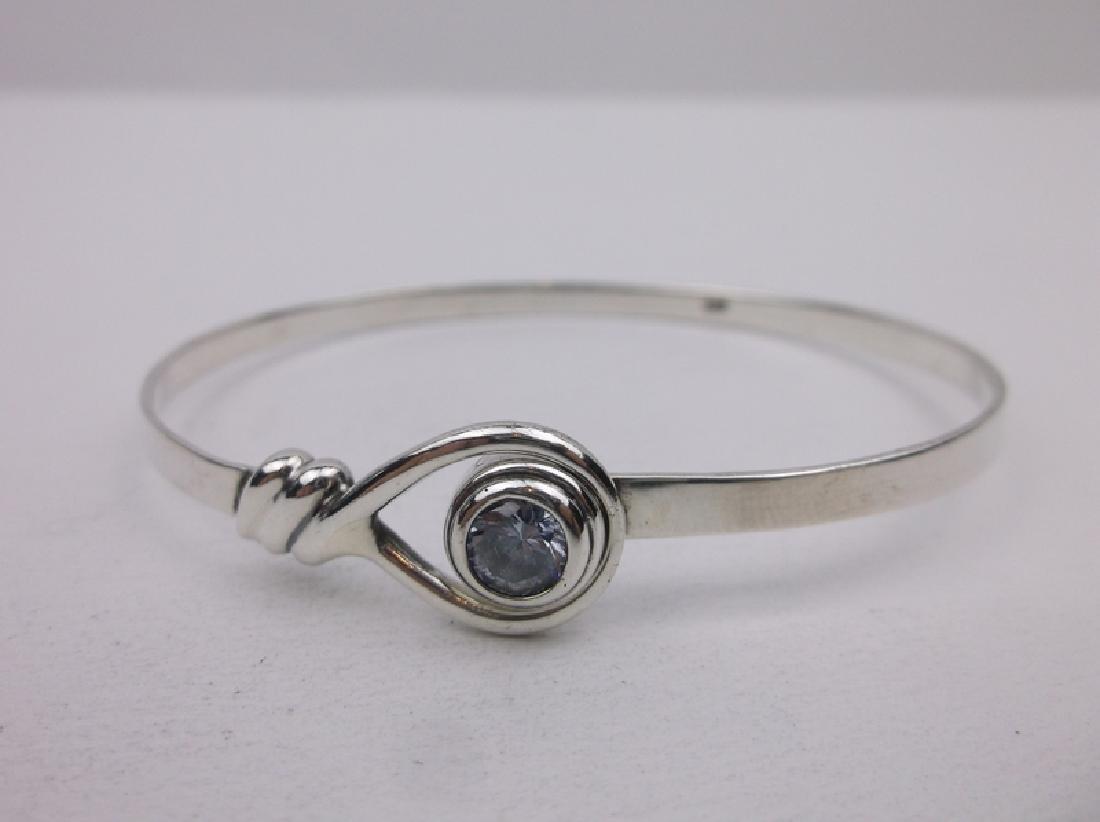 Stunning Sterling Silver Topaz Bracelet