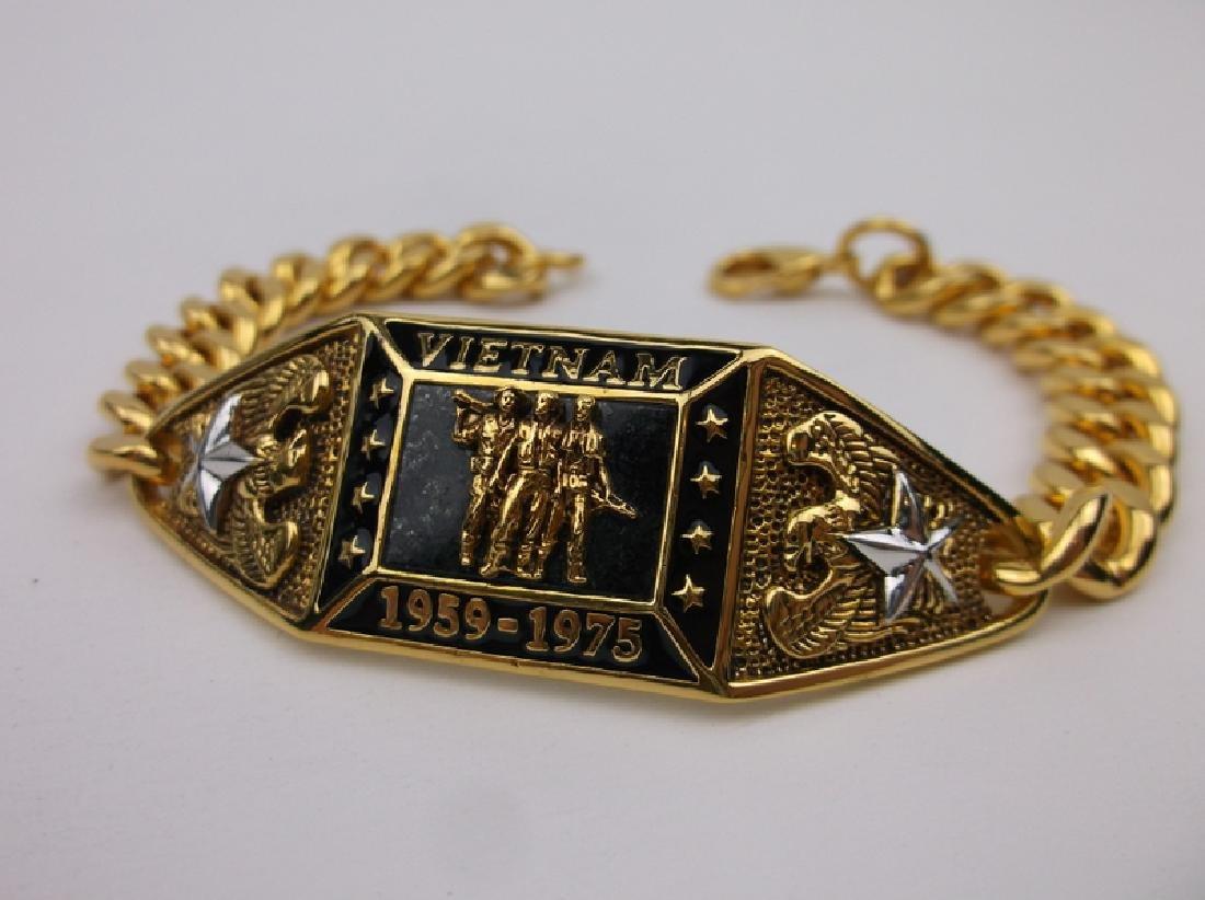 "Stunning Gold Over Sterling Vietnam Bracelet 8"""
